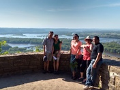 With friends at Wyalusing State Park, Wisconsin
