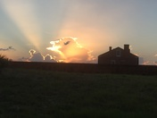 Sunset over Fort Clinch
