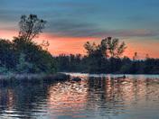 Fishing on Lake Natoma, CA