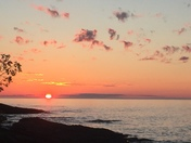 Sunset on the shores of Lake Superior