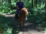 Trail riding with Mom