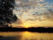 Sunset at DeVoe Lake