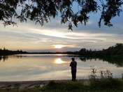 Fishing at Grousehaven Lake