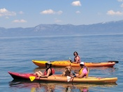 Kayaking Tahoe with the dog