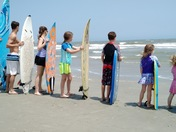 Surf's up at Huntington Beach State Park.
