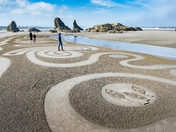 Walking Circles in the Sand
