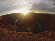 Sunset atHorseshoe Bend