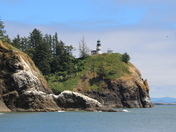 Light house from waikiki beach