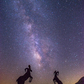BIG HORN SHEEPS AND THE MILKY WAY