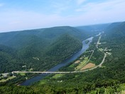 View of the Susquehanna from Hyner View