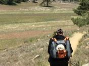 Max and I hiking Big Laguna trail