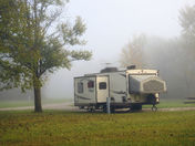 A quiet weekday camping morning
