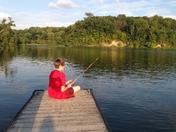 Fishing at Hueston Woods