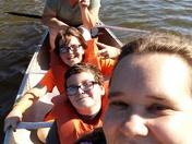 Selfie, 1st time canoeing for the boys
