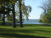 Campground view of Grand Lake St. Marys