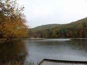 Fall foliage at Pike Lake Ohio
