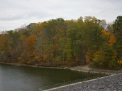 Fall color at Caesar Creek Dam