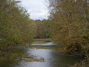 View of Caesar Creek from Little Miami Scenic Trail (East)