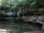 Upper Fall of OldMan's Cave at Hocking Hills