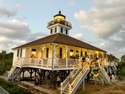 Lighting of lighthouse at Gasparilla State Park.