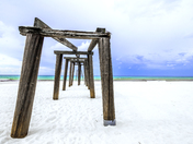 Old pier at the beach