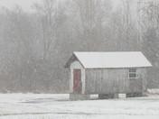 Hartford Community College snowy path 2017.