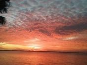 Camping at Sebastian State Park: Sunset: Clouds