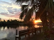 Beautiful Sunset at Collier-Seminole State Park