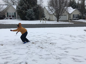 Snow backflip