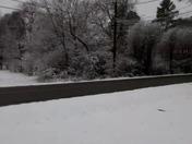 Still snowing in Woodruff at 4:20 p.m.