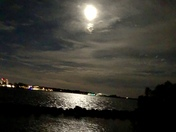 Full moon over the lagoon
