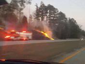 Fires along I-385 N
