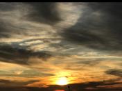 Painted sky at Honeymoon Island