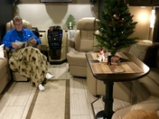 RV camping at Christmas