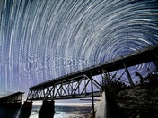 Star trails over Bahia Honda