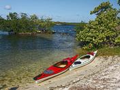 Kayaks at Water's Edge