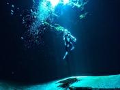Sunbeams Under Water