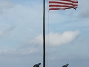 Old Glory flying high and mighty just like our nation.