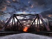 Old truss bridge