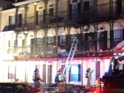 Fire at the Garden District in Statesboro this evening