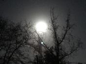 "he blue ""Sap Moon"" as seen over Statesboro, GA"