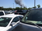 This was at Gulfstream parking lot , when the plane crashed
