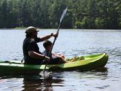 "Dad and Evan ""cruising"""