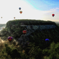 Hot air balloons over Letchworth