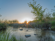 Spring Sunset on the Creek