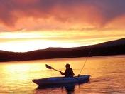 Kayaking in the sunset