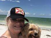 Ollie and I enjoying Beach day