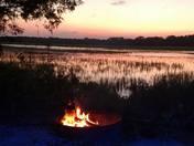 Sunset on the marsh at Edisto Beach
