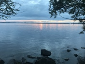 Sunset on the St Lawrence Seaway