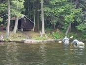 Elger Island Remote Camp Adirondacks NY